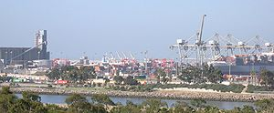 Part of the Port of Long Beach