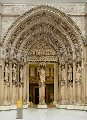 Carnegie Museum of Art - Cast of the north transept portal of the Bordeaux Cathedral in the Hall of Architecture