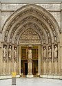 Portal of the North Transept of the Cathedral of Saint-Andre at Bourdaux at CMArt.JPG