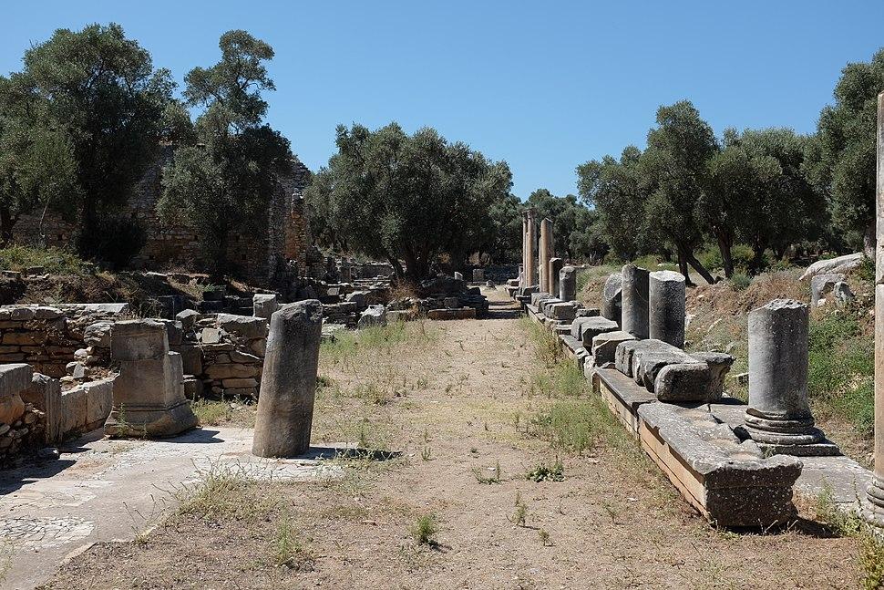 Portico on eastern side of agora of Iasos AvL