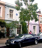 Blair's 1927 lodgings in Portobello Road, London