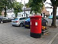 Postbox on the Main Street, Frodsham - geograph.org.uk - 2159732.jpg