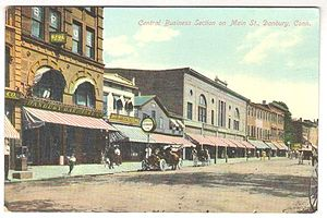 Danbury, Connecticut - Downtown Main Street scene, ca. 1907
