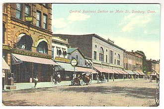Danbury, Connecticut - Downtown Main Street scene, ca. 1907