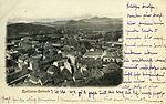 Postcard of Ljubljana, view from Castle 1898.jpg