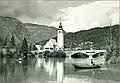 Postcard of St. John the Baptist's Church in Ribčev Laz 1962.jpg