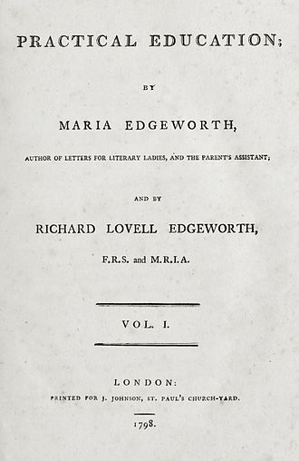 Practical Education - Title page from the first edition