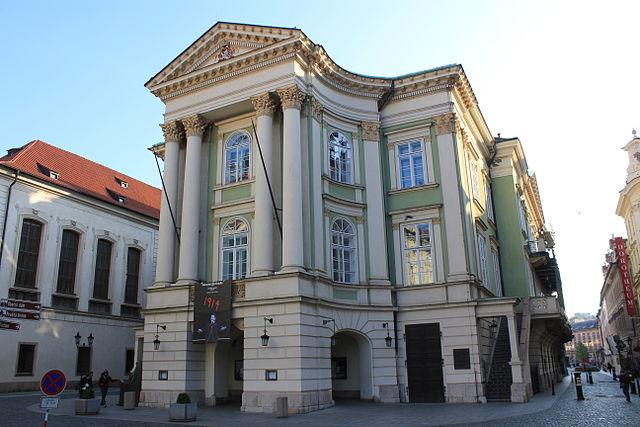 Сословный театр в Праге. Это единственный сохранившийся в первозданном виде театр, где выступал Моцарт
