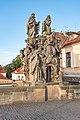 Praha 1, Karlův most, Sochy, Sv. Jan z Mathy, Felix z Valois a Ivan 20170810 002.jpg