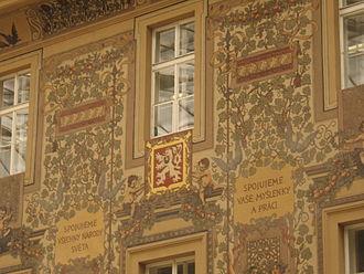 Česká pošta - Interior of the main post office in Prague, Jindřišská street.