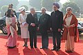 Pranab Mukherjee, the Prime Minister, Dr. Manmohan Singh and his wife Smt. Gursharan Kaur with the Emperor of Japan, His Majesty Akihito and the Empress of Japan, Her Majesty Michiko at the Ceremonial Reception.jpg