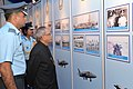 Pranab Mukherjee visiting the exhibition during the presentation of Standards to 21 SQN & 116 HU of Indian Air Force, in Jodhpur on March 04, 2015. The Chief of the Air Staff, Air Chief Marshal Arup Raha is also seen.jpg