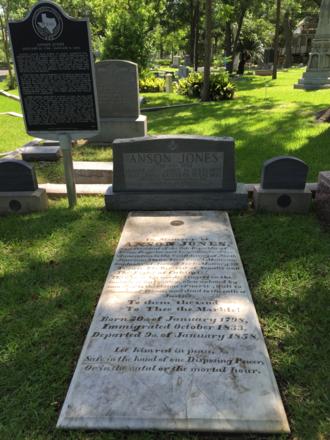Anson Jones - Anson Jones' gravesite at Glenwood Cemetery in Houston
