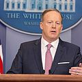 From commons.wikimedia.org: Press secretary Sean Spicer {MID-71181}