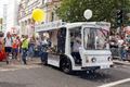 Pride in London 2016 - The Google milk float in the parade with bubbles.png