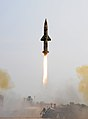 Prithvi-II missile launch on 9 June 2011.jpg