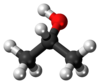 Model molekul isopropanol