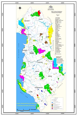 Protected areas of Albania - Network of protected areas of Albania