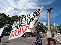 Protesta en favor de los profesores de Oaxaca, en la plaza principal de Aguascalientes (junio, 2016) 23.jpg