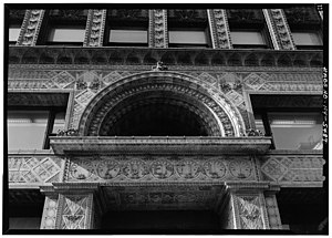 Prudential (Guaranty) Building - Detailed ornamentation above the building's entrance