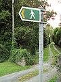 Public footpath, Gwernymynydd 1.JPG
