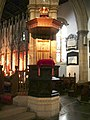 Pulpit, Lancaster Priory - geograph.org.uk - 437571.jpg