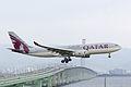 Qatar Airways, QR802, Airbus A330-202, A7-ACB, Arrived from Doha, Kansai Airport (16577207443).jpg