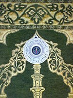 A prayer mat with a compass