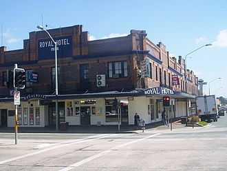Queanbeyan - Royal Hotel in Queanbeyan, built 1926