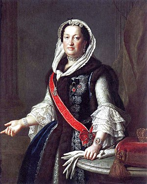 Maria Josepha of Austria - Queen Maria Josepha wearing Polish jupeczka fur garment (by Pietro Rotari, 1755