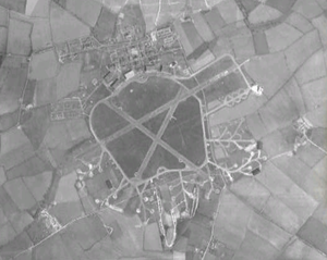 RAF Stradishall - Aerial view in 1945
