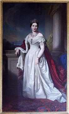 Königin Pauline von Württemberg, Gemälde von Georg Friedrich Erhardt (Quelle: Wikimedia)