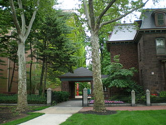 Rutgers Law School - Rear law school courtyard at the Camden campus