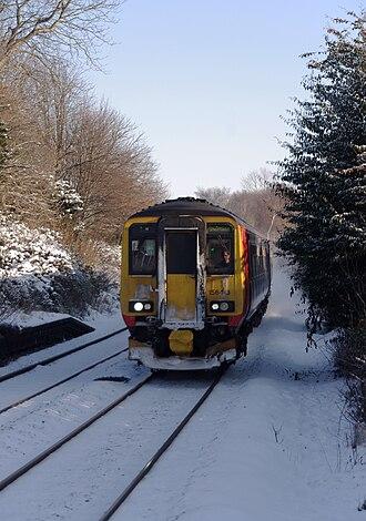 Radcliffe railway station - Image: Radcliffe railway station MMB 11 156413