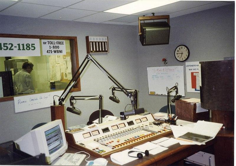 File:Radio studio of WBNI, showing console.jpg