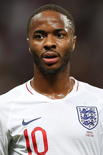 Raheem Sterling - Sterling playing for England at the 2018 FIFA World Cup
