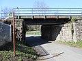 Railway bridge crosses Sarn Lane, Hope, Flintshire (1).JPG
