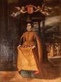 Rainha Santa Isabel, Milagre das Rosas (séc. XVII) - Sé Velha de Coimbra.png