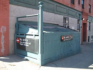 Ralph Avenue (IND Fulton Street Line) - Closed Entrance to Ralph Avenue station