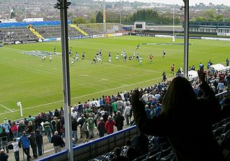 Scotland national under-19 rugby union team - Scotland U-19 playing Ireland U-19 in the 2007 Under 19 Rugby World Championship at Ravenhill Stadium in Belfast
