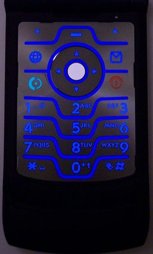 The keypad of the Motorola RAZR V3t also known...