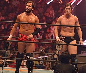 ReDRagon - reDRagon as the IWGP Junior Heavyweight Tag Team Champions in November 2015