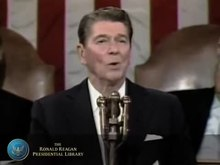 Fichier:Reagan State of the Union 1986-Back to the future.ogv