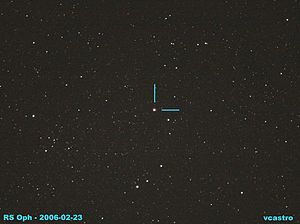 RS Ophiuchi - Image: Recurrent nova RS Ophiuchi as seen 23 FEB 2006 from Mt Laguna, Calif