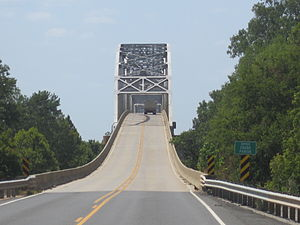 Caddo Parish, Louisiana - This bridge atop the Red River links Bossier and Caddo parishes just east of Hosston.