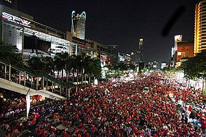 Ratchaprasong - Red Shirts demonstration at the junction (2010)