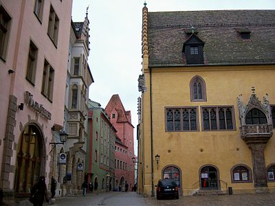 Kohlenmarkt with Town Hall, site of the Perpetual Diet from 1663 to 1806. Regensburg square.jpg