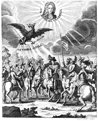 Imperial Knight - Engraving depicting the Imperial Knights, 1710