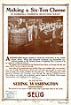 Release flier for MAKING A SIX-TON CHEESE, 1911.jpg