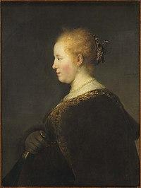 Rembrandt van Rijn - Jonge vrouw en profil (1632).jpg